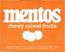 Vintage Mentos Mixed Fruits Gum Ball Machine Vending Display Card 1970s NOS New