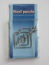 NEW Metal Steel Wire Loop Puzzle Brain Teaser Toy Game IQ Test Logic Retro