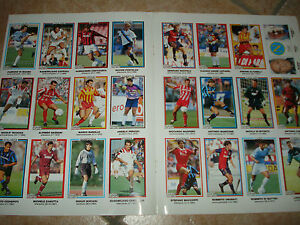 24 Figurines Kinder And Ferrero Guerin Sporty Serie A 1993/94 Sheet 9