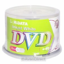 50 New Ridata 16X White Inkjet Printable DVD+R Plus R [FREE USPS Priority Mail]