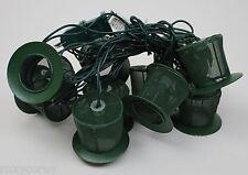 St Patrick's Day 10 Light Wire Mesh Green Leprechaun Hat Light Set NIB