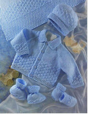 Cute baby jacket-hat-mitts- boots & shawl- Knitting pattern in DK- fits16-22""