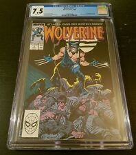 WOLVERINE #1 (1988 MARVEL) CGC 7.5 W.P. *1st WOLVERINE AS PATCH*