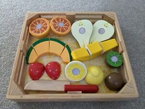 Melissa and Doug wooden food fruit cutting set GREAT CONDITION