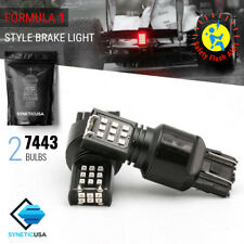 7443 24-LED Strobe Flashing Blinking Brake Tail Light Safety Warning Light Bulbs