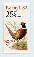Dealer Dave Stamps 1988 BK159 PHEASANT BOOKLET, P#A3111, #2283c, UNOPENED (790)