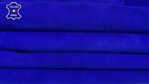 ROYAL BLUE SUEDE genuine Goatskin Goat leather 2 skins  total 9sqf 1.0mm  #A8002