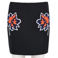 Stella McCartney Black Floral Applique Mini Skirt IT40 UK8