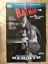 All-Star Batman #1 DC Rebirth Poster John Romita Jr Signed Scott Snyder NM 24x36