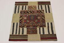 nomades patchwork délavé look antique PERSAN TAPIS tapis d'Orient 1,50 X1, 30