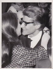 YVES ST. LAURENT Kisses Model Fashion Show Paris VINTAGE 1963 press photo!!