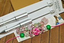 18 pc Beaded Pen Gift set, or for resale - Big hole Lampwork Beads - A2585c