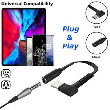 USB Type-C to 3.5mm Aux Jack Headphone Adapter Charger For Samsung S20 Note 10