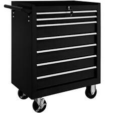 Carro herramientas taller garaje mecánico cerradura con ruedas 7 cajones negro
