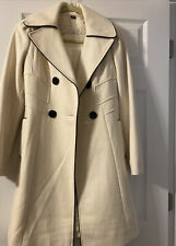 Guess Wool Blend Coat, White/Cream, Women's Size XS Gently Used