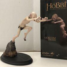 Hobbit Unexpected Journey Gollum Enraged Statue Weta Damaged