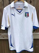 Vtg Puma Italy 2010 World Cup Away Soccer Jersey Football Shirt Azzurri Italia M