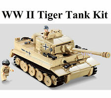 German WW2 Panzer V Tiger Tank c/w Army Figures Compatible Building Brick 995pcs