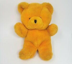"12"" VINTAGE CHOSUN YELLOW BABY TEDDY BEAR STUFFED ANIMAL PLUSH TOY LOVEY KOREA"