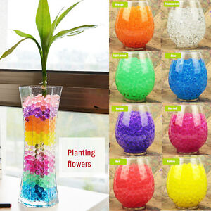Aqua Beads Crystal Soil Bio Gel Ball Wedding Table Decor Vase Filler Centerpiece