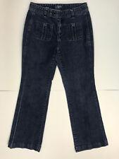 ANN TAYLOR LOFT Womens size 6 Dark Wash 'Curvy Flare' Jeans