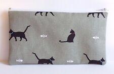 Sophie Allport Cat Fabric Handmade Make Up Bag Pencil Case Storage Pouch