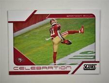 2021 Score Celebration Base #14 Brandon Aiyuk - San Francisco 49ers