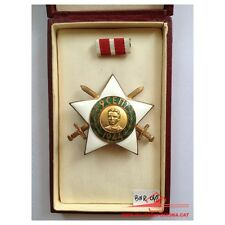 SOVIET MEDAL BULGARIAN ORDER 9 SEPTEMBER 1944 2nd Class Ribbon Swords Screw Back