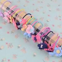 Hot 10Pcs Women Girls Hair Band Ties Rope Ring Elastic Hairband Ponytail Holder