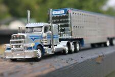 1/64 DCP Die-Cast Vetter Trucking Peterbilt 389 Tri-Axle W/Livestock Trailer