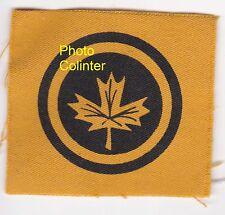 Canadian Military Headquarters - Original WW2 era printed Cloth Formation Sign