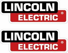 PAIR OF (2) LINCOLN ELECTRIC DECALS 3X8.5 REPLACEMENT WELDER STICKERS p67