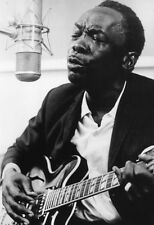 Johnny Lee Hooker Poster, In the Studio, Singing, Playing Guitar, Blues Musican,