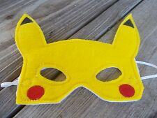 Pokemon Go, Pikachu inspired  Dress up Party & Play Mask. Handmade. Ready2ship!