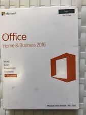 NEW MICROSOFT OFFICE HOME AND BUSINESS 2016 for 1 MAC  -