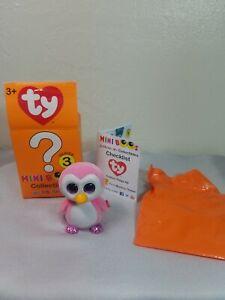 Ty Beanie Mini Boos Pink Glitter Velvet Penguin Collectible Figurine Series 3