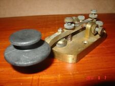 "Signal Electric Telegraph Key R42 3/16"" Heavy Radio Contacts, Menominee, MI"