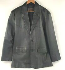 Lucky Leather Men's leather coat, size large, genuine leather, 2 button