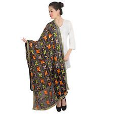 Scarf For Indian & Pakistani Weeding Dress Formal Black Long Scarf Shawl