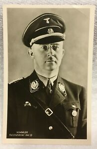 WWII NAZI SS OFFICER  POSTCARD = ORIGINAL RPPC = REICHSFUHRER =HEINRICH  HIMMLER