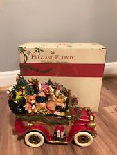 Fitz and Floyd Ff holiday musical 2013 Santa's Classic Car with box