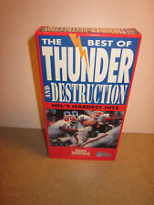 The Best of Thunder and Destruction - NFL's Hardest Hits (VHS,1992)