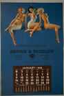 '38 Earl Moran Brown & Bigelow Pin-Up Calendar Gentlemen Prefer Bathing Beauties