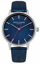 Daisy Dixon Naomi Navy Pu Strap Watch With Navy  Dial