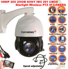 YUCHENG Wireless WIFI 20X Optical Zoom 1080P IR PTZ IP Camera Outdoor SD slot