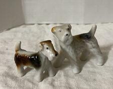 Vintage 2 Porcelain Springer Spaniel Dog Figurines Mother Pup Japan