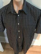 Country Club Mens L Black Checked Everyday Shirt