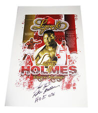 LARRY HOLMES BOXING LEGEND HAND SIGNED AUTOGRAPHED POSTER WITH PROOF AND COA