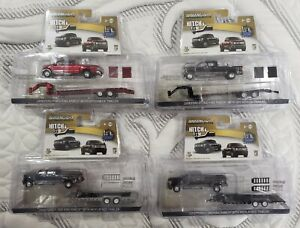 Greenlight Hitch & Tow 2018 Ford F350 King Ranch & Trailer Lot of 4 *MIB*