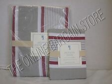 Pottery Barn Kids Jackson Duvet Cover French Stripe Twin & 1 Sham Standard Red